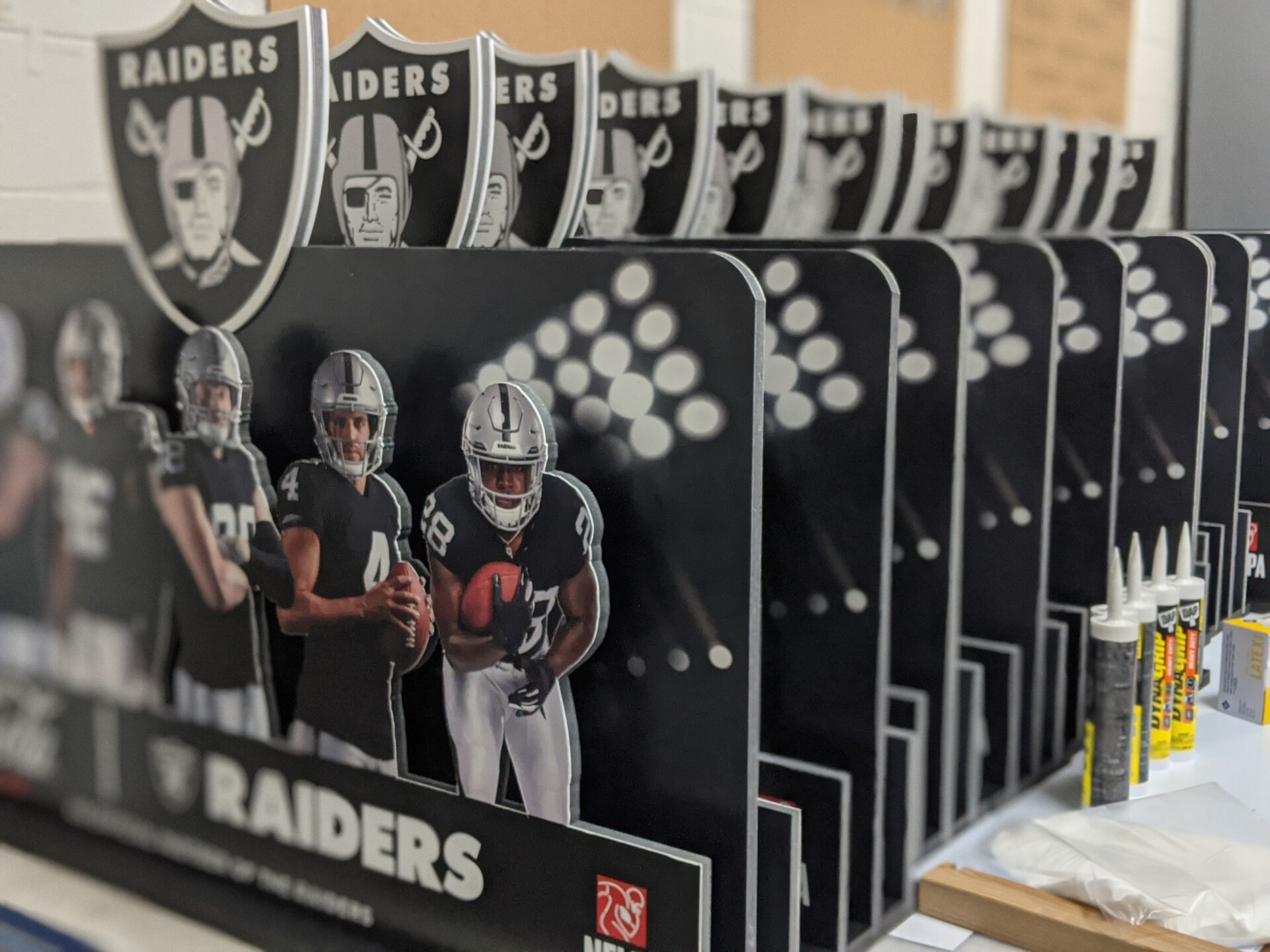 In-Store Pallet Topper Displays Say: Go Raiders!